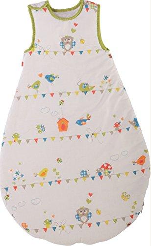 roba Schlafsack, 90cm, Babyschlafsack ganzjahres/ganzjährig, aus atmungsaktiver Baumwolle, Baby- und Kleinkinderschlafsack unisex, Kollektion 'Waldhochzeit'