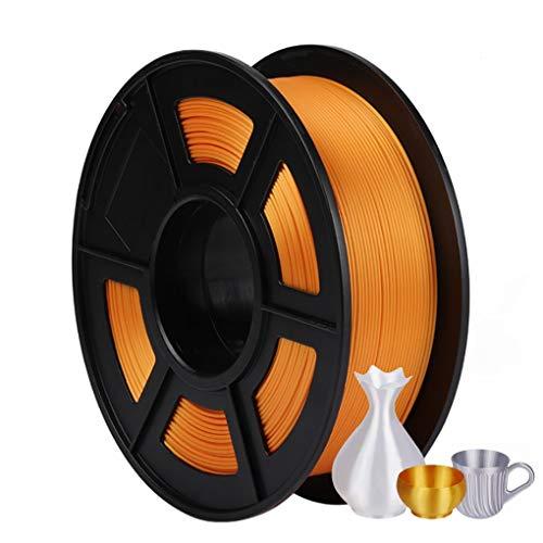 3D impresión filamento de Seda, PLA filamento 1kg, Conveniente for la máquina 3D y 3D Pluma Prensa, 1,75 mm de Alta precisión, los Colores múltiples (Color : Gold)