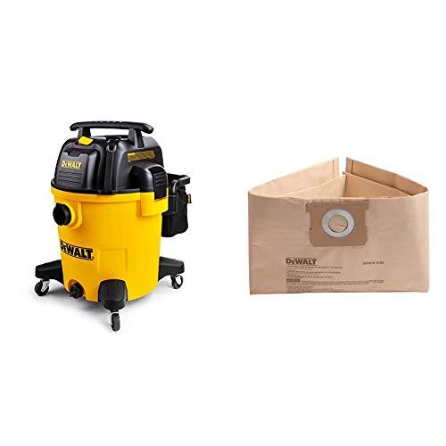 DeWALT 12 Gallon Poly Wet/Dry Vac & DXVA19-4102 Dust Bag 12-16 Gallon