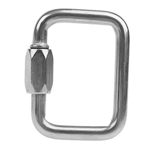 Tubayia Edelstahl Karabiner Schraubverbinder Karabinerhaken für Gleitschirm/Paragliding (10mm)