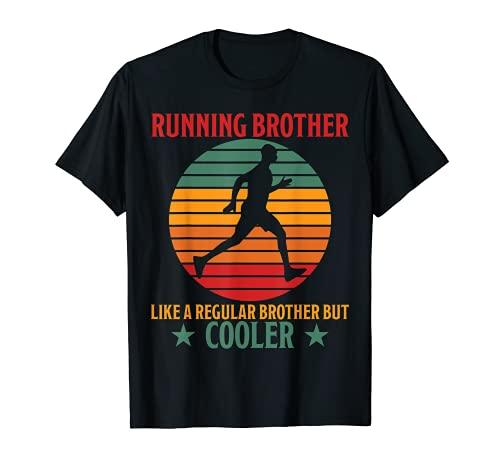 Hombre Running, Brother Cooler, divertido frase para correr, hermano, jogging. Camiseta