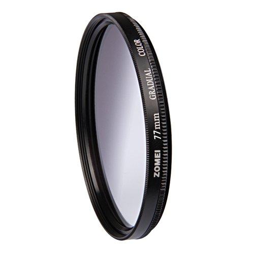 ZOMEI 77mm Graduated Gradual Neutral Density Filter Grey for Canon Nikon Sony Pentax Camera Lens
