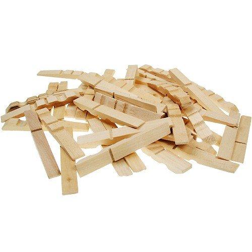 Bastelhölzer - Holz Wäscheklammern Bastelklammern Teile zum Basteln 72x10mm, 100 Stück