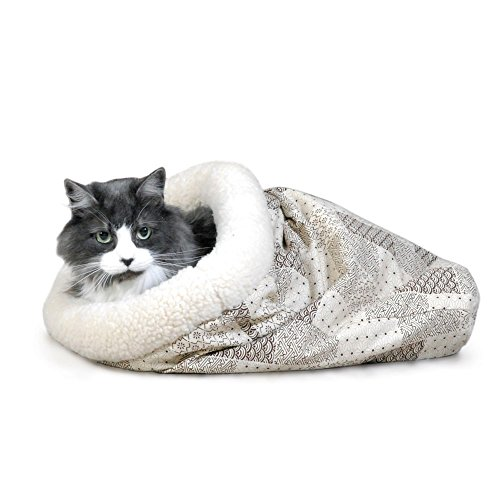 K&H Pet Products Kitty Crinkle Sack Tan