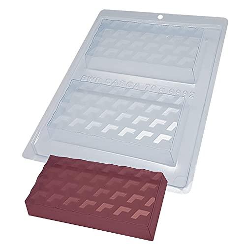 BWB 9992 Molde Especial 3 partes Tabletas Espejismo 3D con silicona para chocolate caliente 2 Agujeros 70-250g Policarbonato Tridimensional caramelo