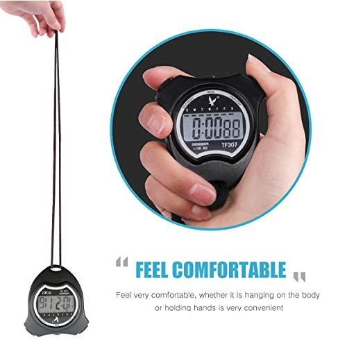 Cronómetro Deportivo Digital Cronómetro, Cronógrafo de Mano Reloj ...