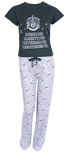 Pijama Verde Gris Slytherin Medium
