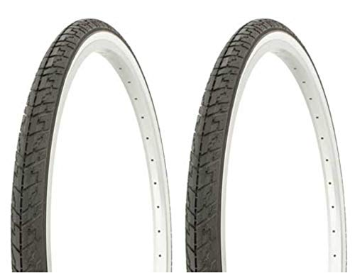 Tire Set. 2 Tires. Two Tires Duro 24' x 1 3/8' Black/White Side Wall lowrider Bicycle Tires, Beach Cruiser Bike Tires,Cruiser Bike Tires Mountain Bike Tires