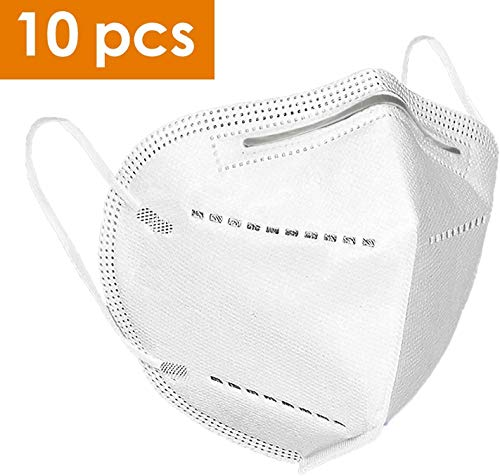 FFP-2 Maske 10 pcs KN95 Maske, Atemmaske mit verstellbarem Nasenclip