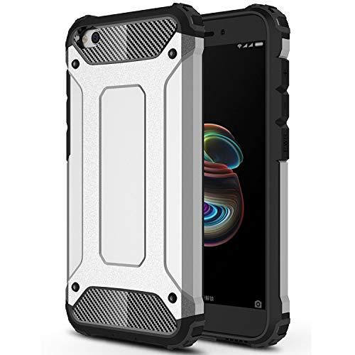 Aidinar Xiaomi Redmi Go Funda, PC+TPU Ultra Silm Híbrida Rugged Armor Case Choque Absorción Protección Dual Layer Bumper para Xiaomi Redmi Go-Blanco