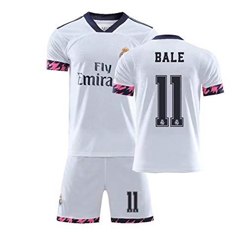 ZGDGG Herren Fans Trikots Real Madrid Fútbol 2020-21 Heimtrikot Sommer Locker Atmungsaktiver Fußball,Bale 11b,XL
