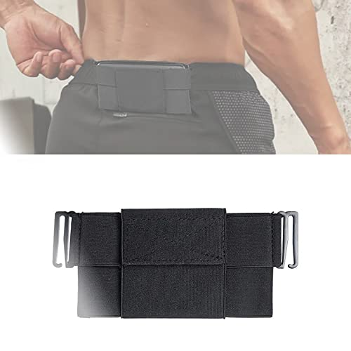 QTPD Minimalist Clip-on Invisible Wallet Elastic Invisible Belt Waist Bag, Non-Marking Anti-Theft Belt Bag, Anti-Theft Invisible Belt Bag, Sport Invisible Belt Waist Bag with Cover (6.9 Inches)
