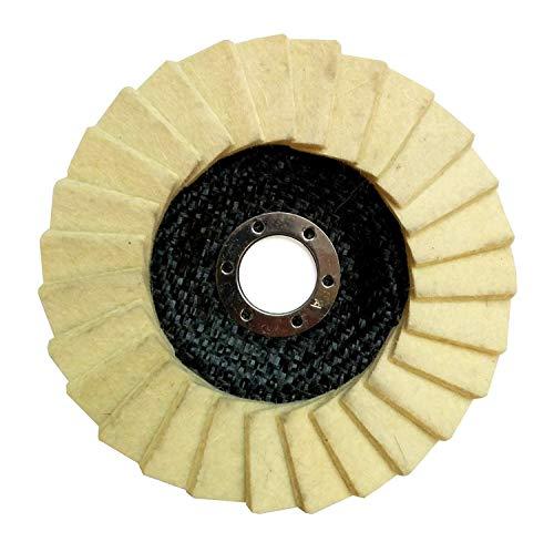 Glanz Polierscheibe 125 x 22.2 mm Polierfächerscheibe (1 Stück)