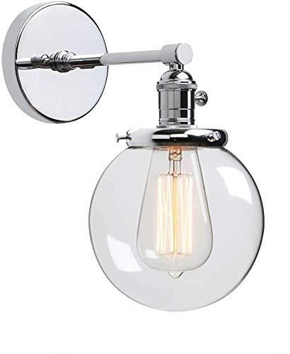 Aaedrag Paralume di vetro Lampada da parete Corridoio globale - Adatto for Soggiorno Camera da letto Cucina Bagno Specchio da toilette di personalità semplice industriale Retro Style Lampada da parete