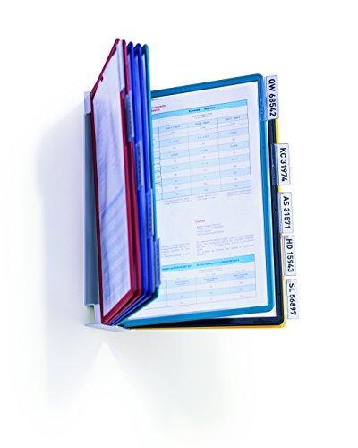 Durable 556700 Sichttafelsystem (Vario Wall 10, mit 10 Sichttafeln A4) mehrfarbig