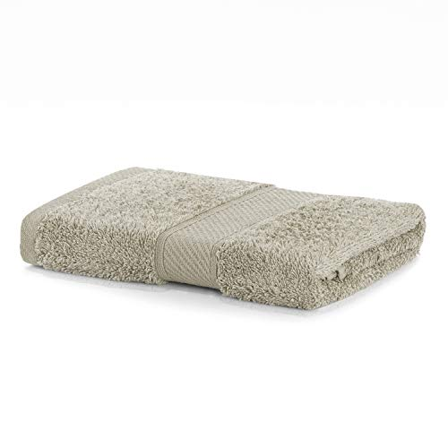 DecoKing Serviette de Bain 50x100 cm Coton Bambou Viscose Beige Cappuccino Absorbant Antibactérien Bamboo Bamby