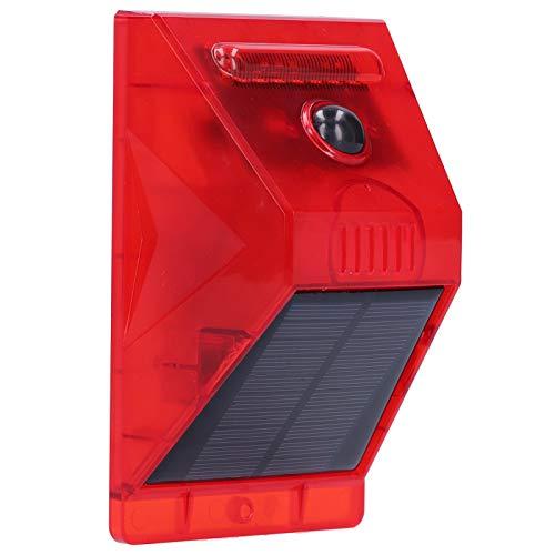 ROMACK Luz de Alarma, el Sonido de la Alarma es de 129 decibelios con 8 Destellos LED Rojos Lámpara de Alarma Solar para hoteles para Jardines de té para Villas para Granjas