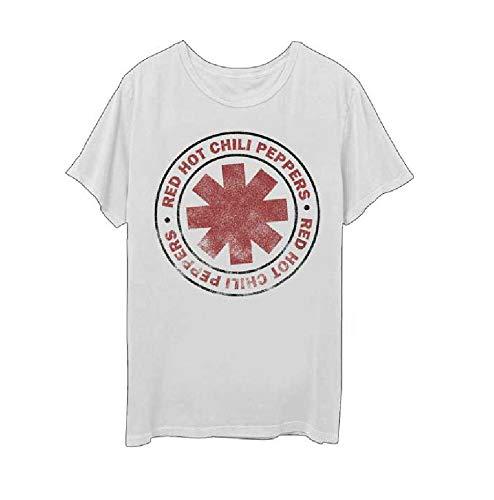 レッド ホット チリ ペッパーズ Tシャツ CIRCLE 白 Red Hot Chilli Peppers 正規品 ロックTシャツ (M)