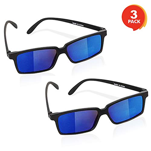 ArtCreativity Spy Glasses for Kids - Set of 3 - See Behind You Sunglasses with Rear View Mirrors -...