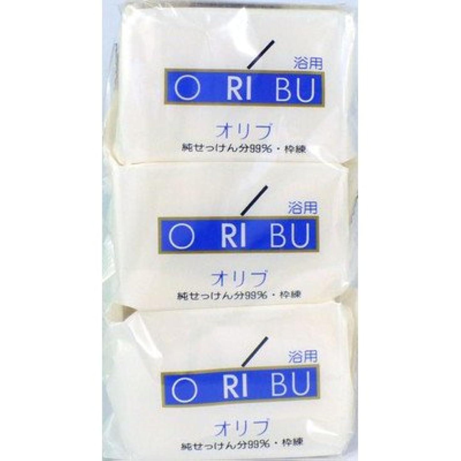 束適応する遺伝子暁石鹸 ORIBU オリブ 浴用石鹸 110g 3個入り