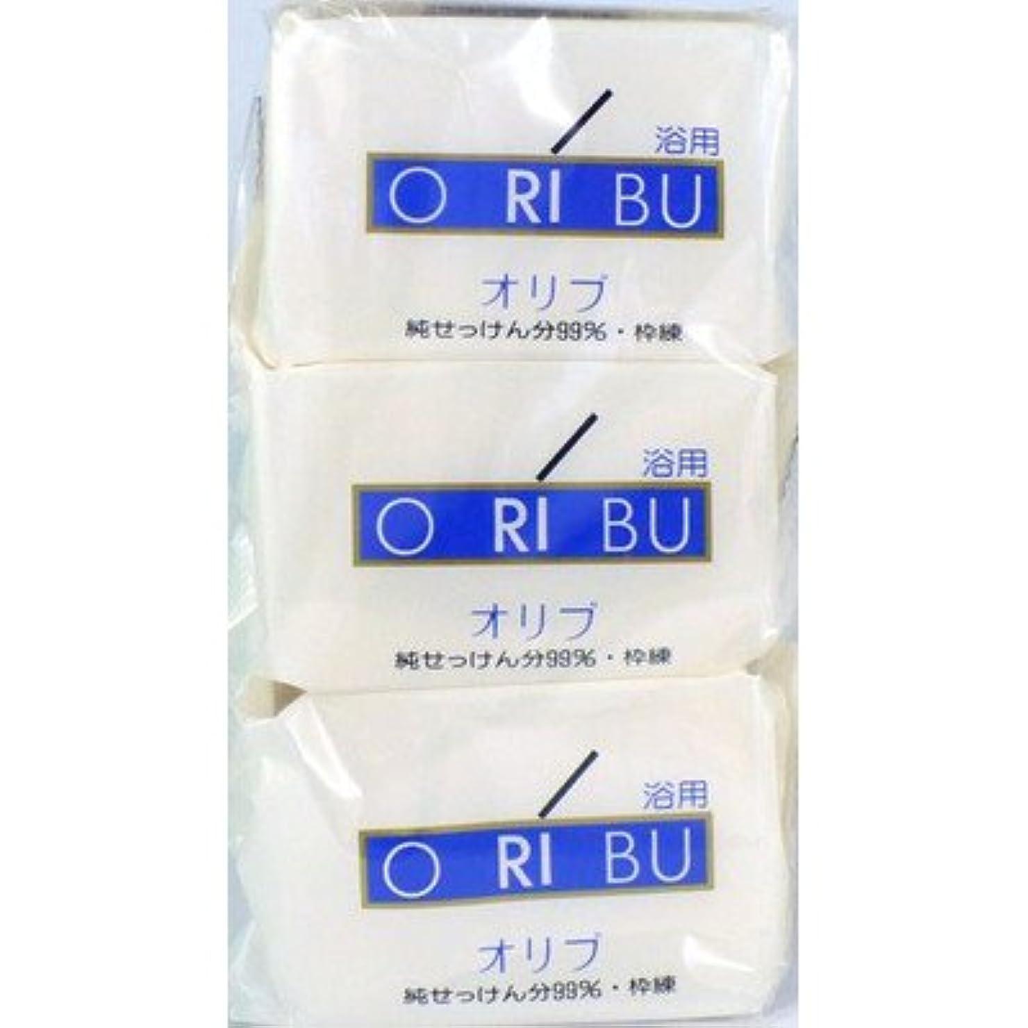 山積みの熱狂的な知り合いになる暁石鹸 ORIBU オリブ 浴用石鹸 110g 3個入り