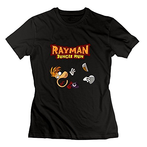 ZhiXiong Damen's Crew Neck Rayman Fiesta Run T Shirts Medium