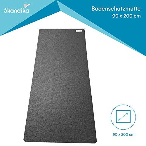 skandika Bodenschutzmatte für Fitnessgeräte (2 Größen), Made in Germay, 8 mm stark, für Heimtrainer oder auch große Maschinen, Sport Multifunktionsmatte, Fitnessmatte, für mehr Stabilität, schützt den Boden, Übungsmatte für Yoga, Pilates (90 x 200 cm)
