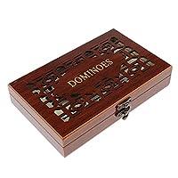 T TOOYFUL ダブル28ピース/個ドミノ伝統的なボードトラベルゲームパーティーおもちゃケース付き
