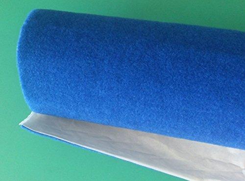 Sh - Moqueta acústica adhesiva - Color azul - Rollo de 70x 140 cm