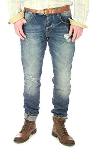 """SUPERDRY """"Slub Retro Azul"""" vintage Vaqueros hombre, Hombre denim original Regiment estilo - algodón, Azul, 100% algodónnloción 100% algodón, hombre, 28W / 32L"""