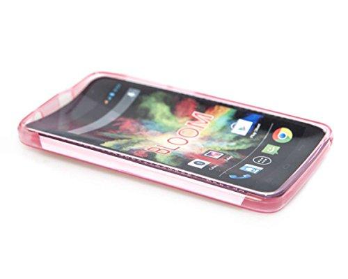 caseroxx TPU-Hülle & Bildschirmschutzfolie für Wiko Bloom, Set (TPU-Hülle in rosa)