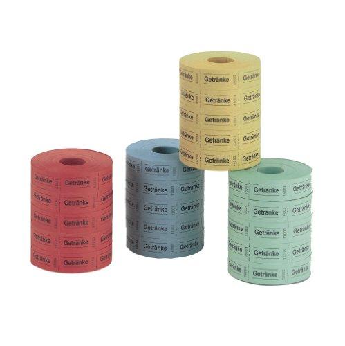 Herlitz 791780 drankmerken, 5x1000 scheuren (verschillende kleuren)