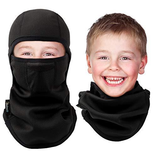 AstroAI Kinder Sturmhaube, Kinder Balaclava Skimaske Winddichte atmungsaktive Gesichtsmaske für Jungen und Mädchen zum Skifahren, Laufen, Radfahren
