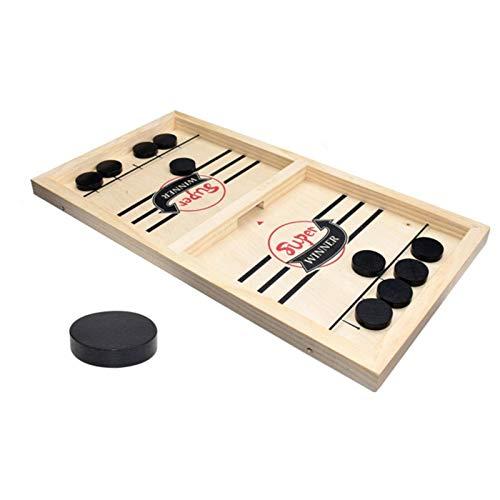 N-B Futbolín Juegos para ganadores Juego de Hockey de Mesa Ajedrez de catapulta Juguetes interactivos para Padres e Hijos Juego de Mesa de Disco de Honda rápida Juguetes para niños