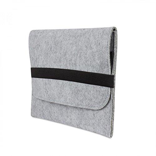 eFabrik Universal Sleeve für 10,2' - 12,2 Zoll Schutztasche Tablet Schutzhülle Soft Cover Zubehör Filz Hell Grau