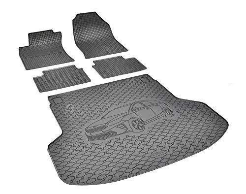 Passende Gummimatten und Kofferraumwanne Set geeignet für KIA Ceed SW ab 2018 EIN Satz + Gurtschoner