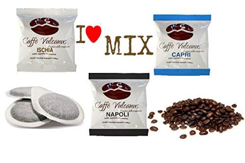 Caffé Vulcanus - Kit de degustación 150 capsulas ESE44 - Degustación de café de mezcla Napoli, Ischia y Capri