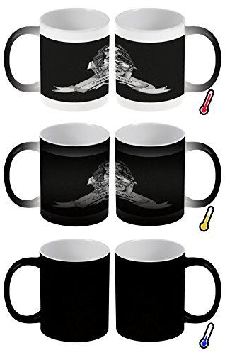 LEotiE SINCE 2004 Zaubertasse Farbwechseltasse Kaffeebecher Tasse Becher Latte Cappuccino Espresso Sexy Girl Tattoo