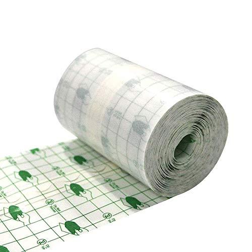 GHzzY 10cm * 10m Wundverband zur Kanülenfixierung, Gipsfixierung und Dekubitusprophylaxe - wasserdichter transparenter Klebstoff (frei geschnitten)