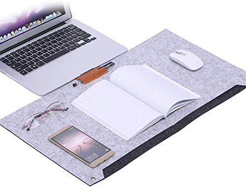 MeRaYo Laptop Desk Pad Office Desk Pad Table Computer Matt for Office Non-Slip Desk Blotter (Grey)