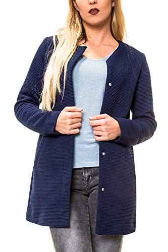 ONLY Damen Übergangsmantel Kurzmantel Leichte Jacke Chic Business Coat (XS, Black Iris/Melange)