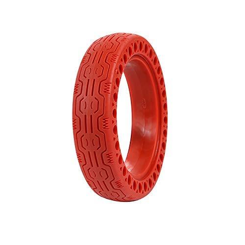 ALLOMN Neumático de Scooter Eléctrico, 8,5 Pulgadas Neumático de Panal de Scooter Eléctrico para Xiaomi Neumático de Repuesto de Rueda Delantera/Trasera Neumático sin Aire de Repuesto (Rojo)