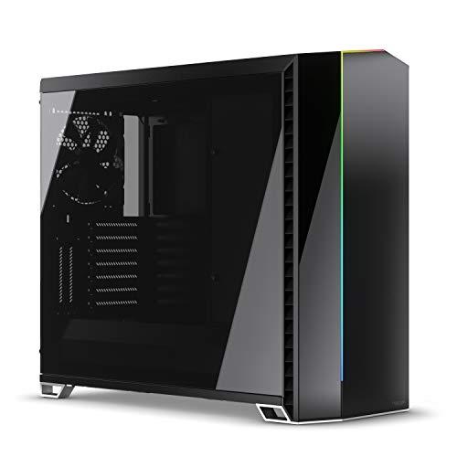 Fractal Design Vector RS Blackout Dark TG – RGB – ATX- Tower-Gehäuse, Schwarz, dunkel Getöntes – Wasserkühlung Bereit – Staubfilter - individualisierbare Effekte - USB 3.1 Gen 2 Typ-C Anschluss