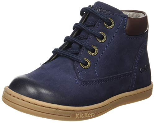 Kickers Unisex Baby Tackland Stiefel, Blau (Marine Perm 10), 22 EU