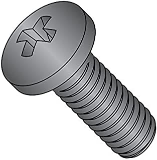 Fully Threaded Black Oxide Finish #3 Phillips Drive 18-8 Stainless Steel Pan Head Machine Screw Meets MS-51957 Pack of 10 1 Length 1//4-20 Thread Size USA Made