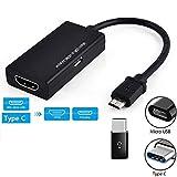 ELD Typ C & Micro USB zu HDMI Adapter-Kabeln, High-Definition-Bildschirm-Projektor Ansicht Einer Präsentation oder eine Dia-Show Anwenden auf Tablet-TV Samsung Galaxy S9 Huawei P20