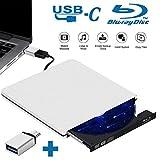 Tokenhigh Lecteur CD DVD Externe Blu Ray 3D USB 3.0, Graveur CD DVD Externe Blu-Ray Portable Et...