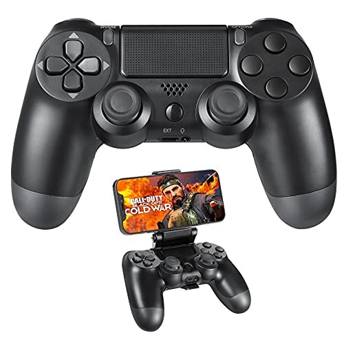 Playstation 4 Controller, PS4 Controller Wireless with Clip Mount,...
