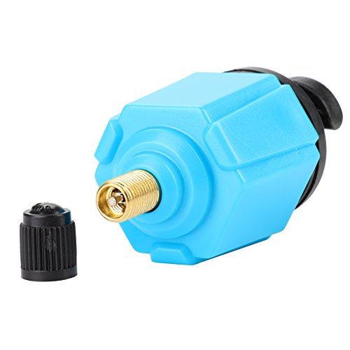 Dioche Inflator Valve Adapter, Tragbare Kunststoff + Legierung Inflator Ventil Adapter Zubehör für Kanu Kajak Boot Blau - 6
