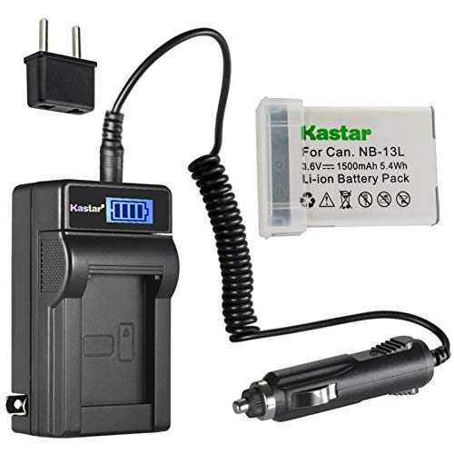 Kastar 1-Pack NB-13L Battery and LCD AC Charger Compatible with Canon PowerShot G9 X, PowerShot G9 X Mark II, PowerShot SX620 HS, PowerShot SX720 HS, PowerShot SX730 HS Digital Cameras -  CHL-1B-NB13L-A